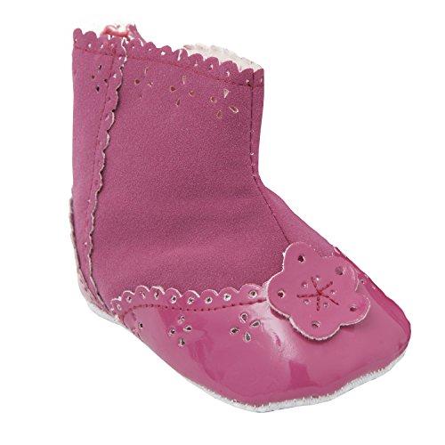 Babystiefel für Mädchen, rosa mit Blumenmuster (12-18 Monate / EUR 19) (Rosa) Rosa