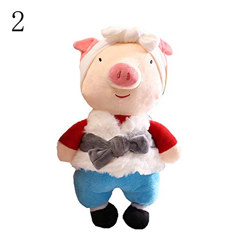 Bird Toy Parrot New Wood - yanbirdfx Couple Cartoon Pig Stuffed Plush Doll 2019 Chinese New Year Mascot Toy Kids Gift - 2#