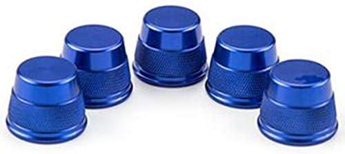 TOOGOO 5 Pi/èCes S/éRies des Sports en Aluminium Bleu Couvertures de D/éCoration de Ventilation//Bouton DOuverture de Climatiseur pour Mercedes Classe C W205 GLC 180 200 260