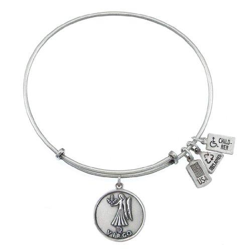 Wind & Fire Virgo (Maiden) Finition argent Charm Bracelet