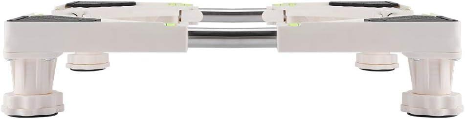 Soporte de la lavadora Soporte de la base de la lavadora ajustable de alta resistencia Soporte del soporte del refrigerador 4 pies