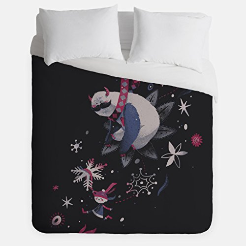 Winter Sloth Duvet Cover / Yeti Monster Bedroom Decor / Made in USA / Great Bedroom Artwork by Fuzzy Ink