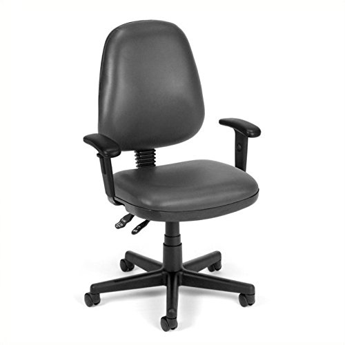 OFM 119-VAM-AA-604 Straton Series Anti-Microbial/Anti-Bacterial Vinyl Task Chair with Arms ()