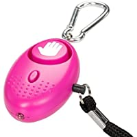 tiiwee Alarme Personnelle D'urgence avec Torche - Hot Pink - 130dB - Anti Agression