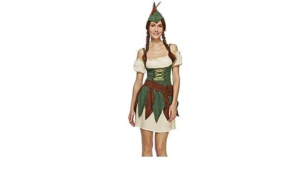 NET TOYS Disfraz Robin Hood Mujer Arquera XS 32/34 Ropa Caminante ...