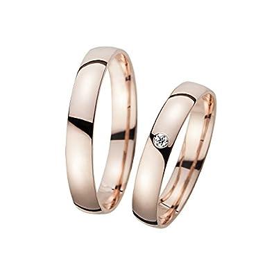 Anillos de boda de oro rosa 1 pareja en 333 u 585 unidades oro