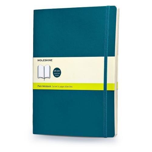 Moleskine Classic Notebook, Soft Cover, XL (7.5 x 9.5) Plain/Blank, Underwater Blue