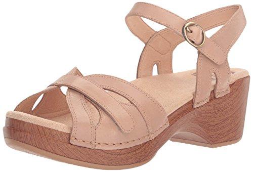 Dansko Women's Season Flat Sandal - Sand Dollar Full Grai...