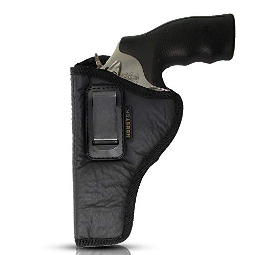 IWB Revolver Holster by Houston - ECO Leather Concealed Carry Soft Material | Suede Interior for Protection | (Left) FITS:Revolvers K,L,M & N Frames,5 & 6 Shots,3.5