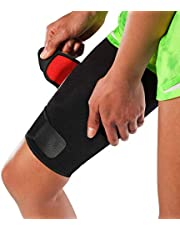 Adjustable Thigh Brace Support, Quadriceps Support and Thigh Wraps for Women and Men. Unisex Breathable Neoprene Non-Slip Hamstring Compression Sleeve