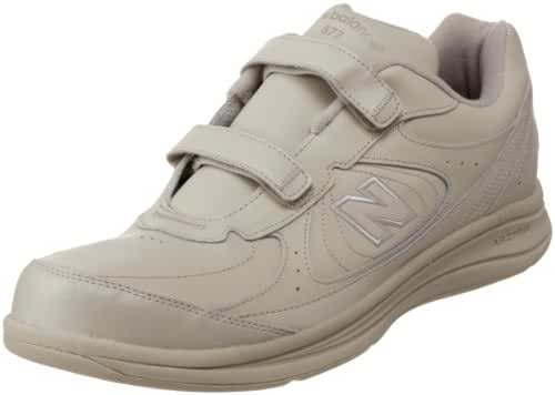 New Balance Men's MW577 Leather Hook-and-Loop Walking Shoe