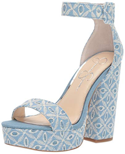 Jessica Simpson Women's CAIYA Sandal, Denim Blue, 8.5 M US