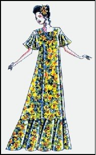 Hawaiian V Neck Muumuu Dress Sewing Pattern #102 ()
