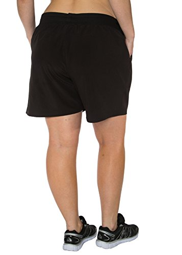 RBX Active Plus Size Relaxed Fit Breathable Ventilated Athletic Short,Black,2X Plus