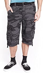 UNIONBAY Men's Cordova Belted Messenger Cargo Short - Reg and Big and Tall S