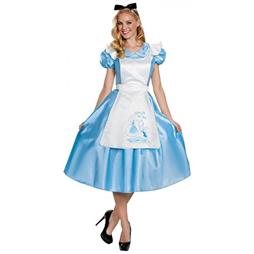 Alice In Wonderland Women's Adult Classic Blue Dress Costume (M) -
