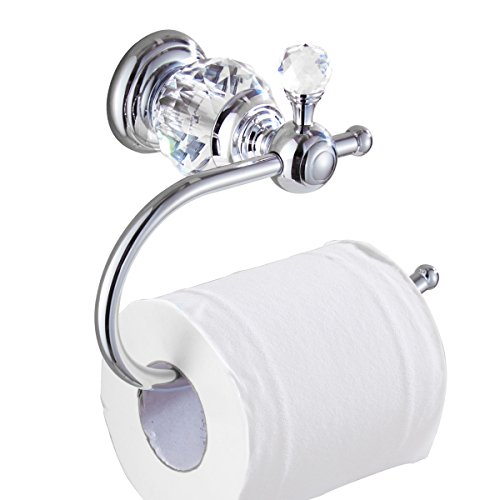 MANCEL Crystal-Series Brass Toilet Paper Holders , Chrome