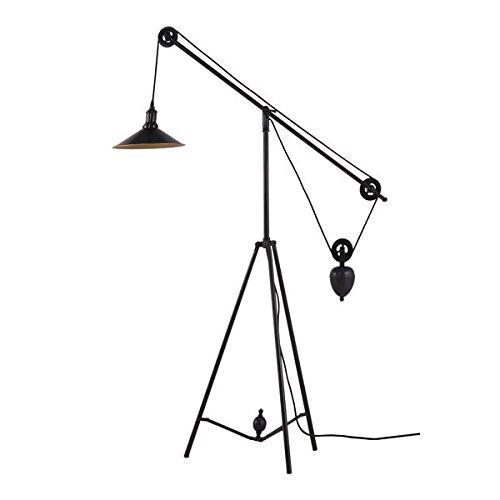 Zuo 98235 Modern Jasper Floor Lamp, Antique Black & Gold ()