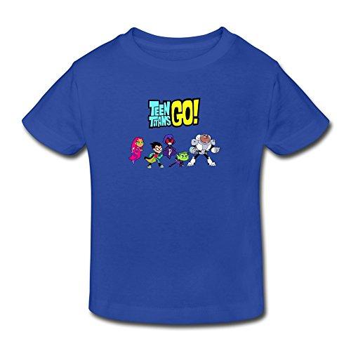 Figma Series - RIDA Teen Titans Go Logo Boys/Girls Baby Kids Toddler T-shirts 4 Toddler RoyalBlue