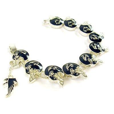 NFL Football Atlanta Falcons Silver Charm Bracelet