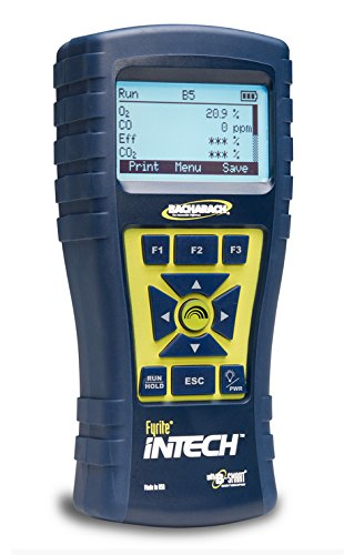 - Bacharach Fyrite Intech Combustion Analyzer; O2/CO, Reporting Kit