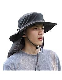 KRATARC Outdoors Fishing Hat Sun Cap Breathable Lightweight Wide Brim with Neck Flap for Men Women Unisex