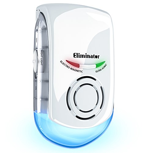 Eliminator Plug-in Pest Repeller with Night Light - Eradicates All Types of Insects and Rodents