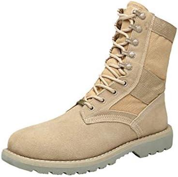 ZXF Herren Stiefelette Frauen Sandalen High Top Winterstiefel echtes Leder Splice Leinwand Vamp Liebhaber Schuhe Mode Schuhe (Color : High-Top Warm Khaki, Größe : 39 EU)