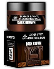 Dark Brown Leather Recoloring Balm - Leather Repair Kits for Couches - Leather Restorer for Couches Brown Car Seat, Boots - Cream Leather Repair for Upholstery - Refurbishing Dark Brown Leather Dye