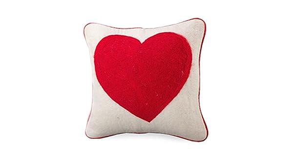 Amazon.com: Grande Corazón Funda de fieltro de lana: Home ...