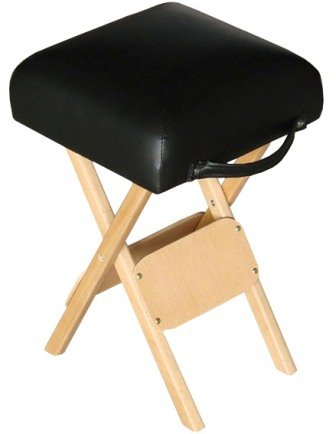 Salon Wooden Therapists Stool Black