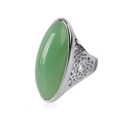CACTUS Female Classic Prom Resin Zinc Alloy Geometry Cocktail Party Ring Artificial Amber Ring Oversized Exaggerated Resin Ring Vintage Exaggerated Imitation Stone Ring Ring, Fluorescent Green, - Oversize Ring Cocktail