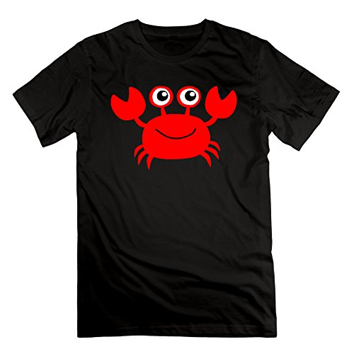 FONY Men's Cute Crab Clipart Animal Lover Gift Short Cool T-Shirts