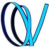 Lychee 1M Neon Glowing Strobing Electroluminescent Robbin El Tape Belt, Blue
