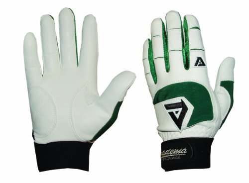 Akadema Professional Batting Gloves (White/Green, XX-Large)