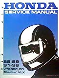 Honda Service Manual * 88-89 91-95 VT600C, CD Shadow VLX (Seven Holes Punched Left Edge for Binders)