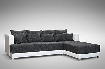 Schlafsofa Sofa Couch Ecksofa Eckcouch Schwarz / Weiss Schlaffunktion  Wien  1  R