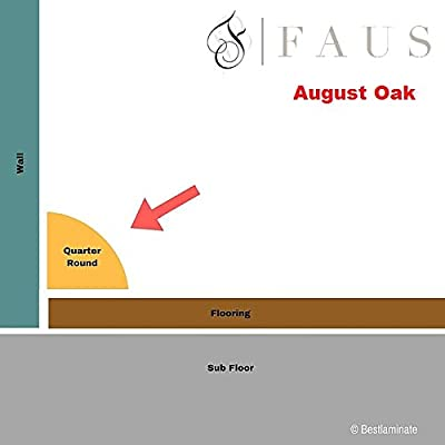 """Faus Quarter Round Molding 94-1/16"""" x 3/4""""' August Oak (Pack of 10)"""