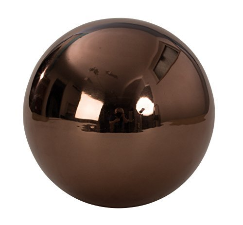 Modern Decorative Ball Garden ornament Garden sphere brown stainless steel Diameter 20 cm Mel O Design
