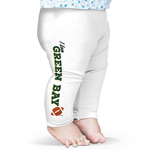 Twisted Envy Baby I Love Green Bay American Football Leggings Trousers 12-18 Months White