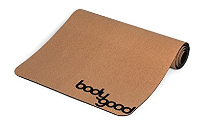 BodyGood Cork Yoga Mat – Non Slip Exercise and Pilates Mat Naturally Repels Germs, Sweat and Odors. Convenient and Lightweight! Take It to Every Workout with the Included Carrying Strap.