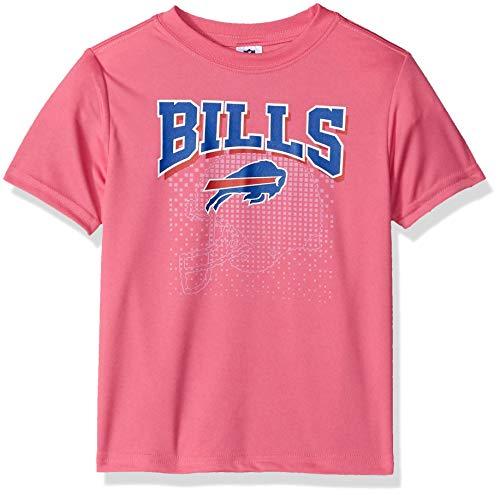 Gerber Childrenswear NFL Buffalo Bills Girls 2018Short Sleeve Team Logo Tee, Pink, 4T