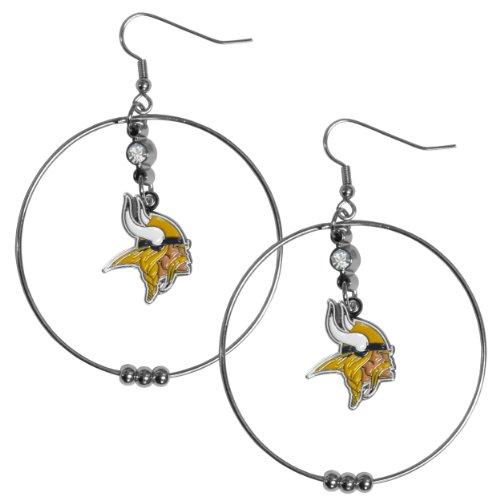 (NFL Minnesota Vikings Hoop Earrings,)