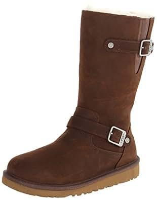 UGG Australia Kensington Toast Leather Girls Boots Size 1 - 1969