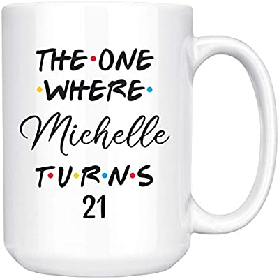 Personalized 21st Birthday Mug 21 Coffee Happy Party Turning Bday Gift For Her Him
