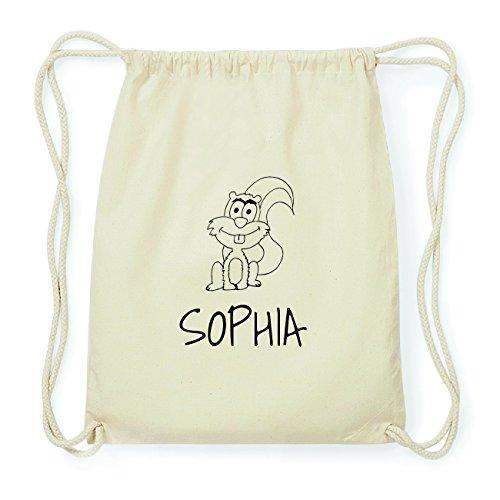 JOllipets SOPHIA Hipster Turnbeutel Tasche Rucksack aus Baumwolle Design: Eichhörnchen