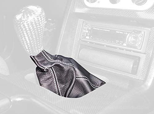 - RedlineGoods Shift Boot Compatible with Ford Mustang 1987-93. Black Leather-Black Thread