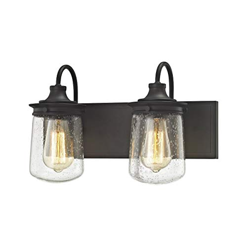 """Elk Lighting 81211/2 Vanity-Lighting-fixtures, 10 x 15 x 7"""", Bronze"""