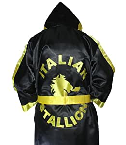 Rocky Balboa Black and Gold Boxing Robe One Size Fits All (disfraz)