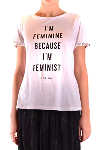 Blanco Mcbi36408 shirt Algodon Pinko Mujer T FYRvRaw